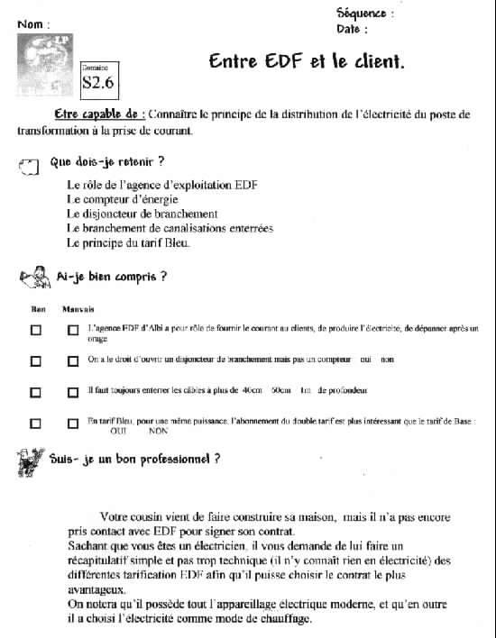 exemple cv bac pro electrotechnique